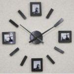 Nalepovací hodiny s fotorámečkem